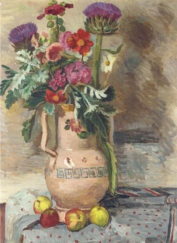 Vanessa bell flowers and thistles