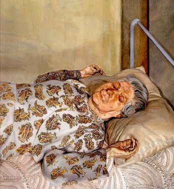 Freud the painter's mother resting 1976