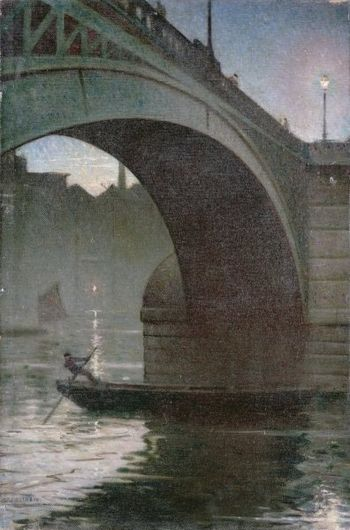 Old Southwark Bridge c 1919 CR Nevinson