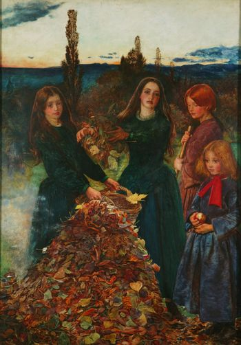 Millais autumn leaves 1856