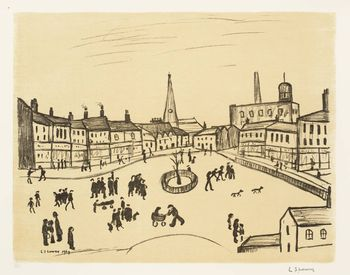 Ls lowry tree in a square 1969