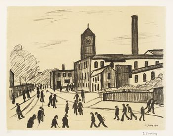 Ls lowry a northern town 1969