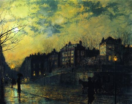 Atkinson Grimshaw - Hampstead Hill 1881