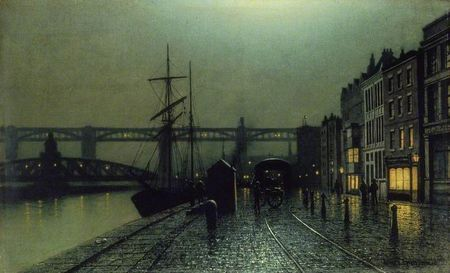 The quayside, newcastle arthur grimshaw