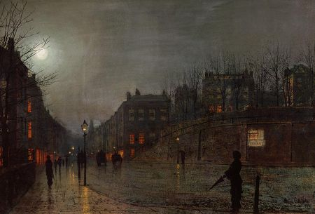 Atkinson grimshaw going home at dusk