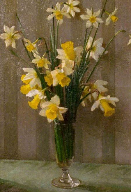Daffodils william logsdail (1859-1944)  c1935 the collection lincoln