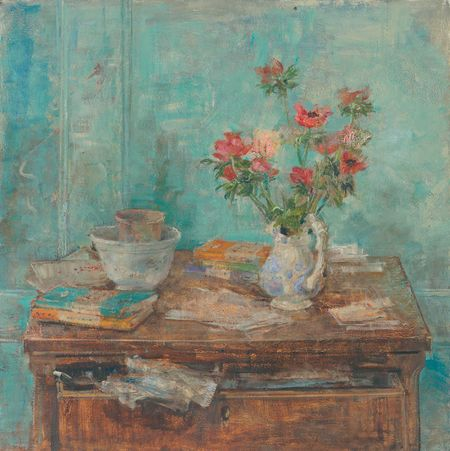 Emily Patrick Anemones and Blue Wall 2010